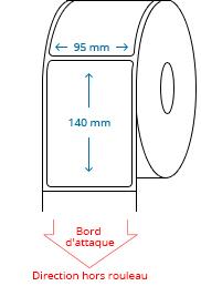 95 mm x 140 mm Étiquettes à rouleaux