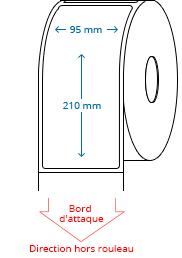95 mm x 210 mm Étiquettes à rouleaux