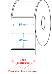 97 mm x 67 mm Étiquettes à rouleaux