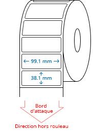 99.1 mm x 38.1 mm Étiquettes à rouleaux