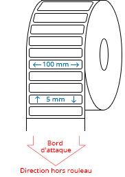 100 mm x 5 mm Étiquettes à rouleaux