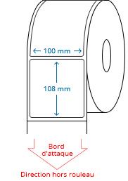 100 mm x 108 mm Étiquettes à rouleaux