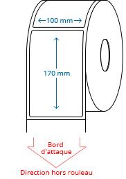 100 mm x 170 mm Étiquettes à rouleaux