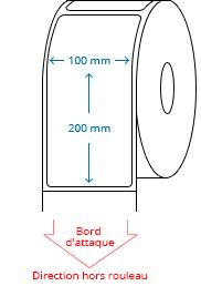 100 mm x 200 mm Étiquettes à rouleaux