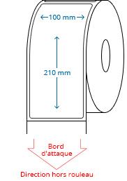 100 mm x 210 mm Étiquettes à rouleaux