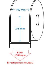 100 mm x 275 mm Étiquettes à rouleaux