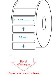 102 mm x 38 mm Étiquettes à rouleaux