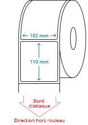 102 mm x 110 mm Étiquettes à rouleaux