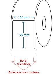 102 mm x 126 mm Étiquettes à rouleaux