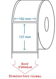 102 mm x 127 mm Étiquettes à rouleaux