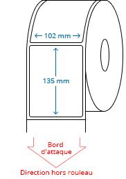 102 mm x 135 mm Étiquettes à rouleaux