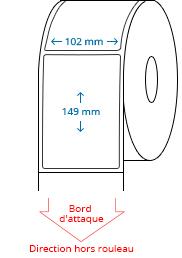 102 mm x 149 mm Étiquettes à rouleaux