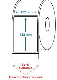 102 mm x 152 mm Étiquettes à rouleaux