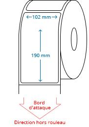 102 mm x 190 mm Étiquettes à rouleaux