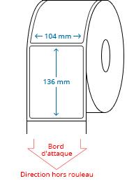 104 mm x 136 mm Étiquettes à rouleaux