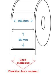 105 mm x 85 mm Étiquettes à rouleaux