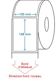 105 mm x 148 mm Étiquettes à rouleaux