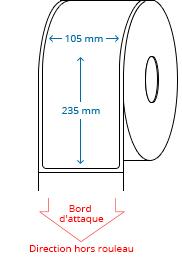 105 mm x 235 mm Étiquettes à rouleaux