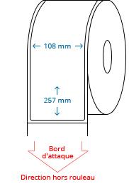 108 mm x 257 mm Étiquettes à rouleaux