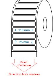 110 mm x 25 mm Étiquettes à rouleaux