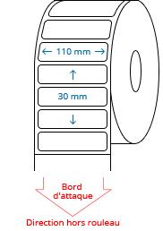 110 mm x 30 mm Étiquettes à rouleaux
