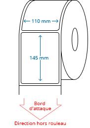 110 mm x 145 mm Étiquettes à rouleaux