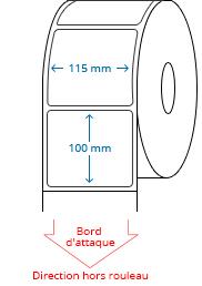 115 mm x 100 mm Étiquettes à rouleaux