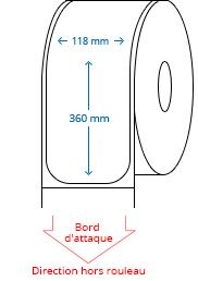 118 mm x 360 mm Étiquettes à rouleaux