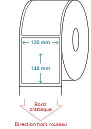 120 mm x 140 mm Étiquettes à rouleaux