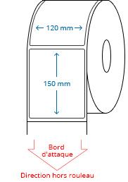 120 mm x 150 mm Étiquettes à rouleaux