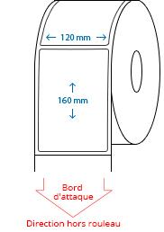 120 mm x 160 mm Étiquettes à rouleaux
