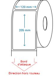 120 mm x 205 mm Étiquettes à rouleaux