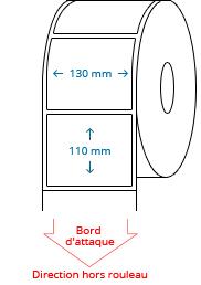 130 mm x 110 mm Étiquettes à rouleaux