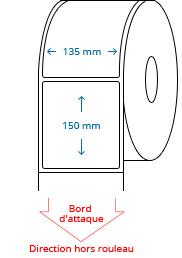 135 mm x 150 mm Étiquettes à rouleaux