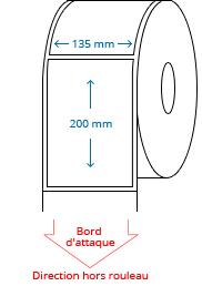 135 mm x 200 mm Étiquettes à rouleaux