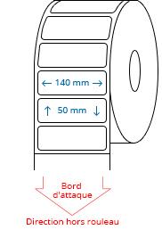 140 mm x 50 mm Étiquettes à rouleaux