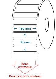 150 mm x 35 mm Étiquettes à rouleaux