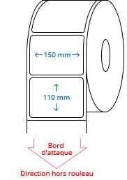 150 mm x 110 mm Étiquettes à rouleaux
