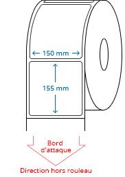 150 mm x 155 mm Étiquettes à rouleaux