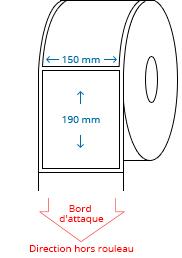 150 mm x 190 mm Étiquettes à rouleaux