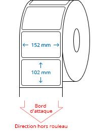 152 mm x 102 mm Étiquettes à rouleaux