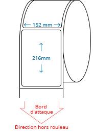 152 mm x 216 mm Étiquettes à rouleaux