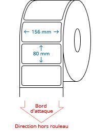 156 mm x 80 mm Étiquettes à rouleaux