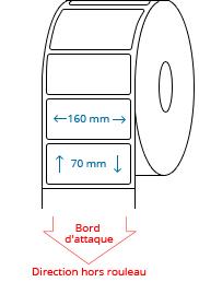 160 mm x 70 mm Étiquettes à rouleaux
