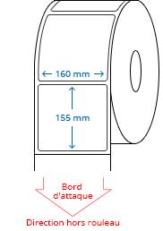 160 mm x 155 mm Étiquettes à rouleaux