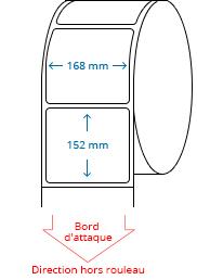 168 mm x 152 mm Étiquettes à rouleaux