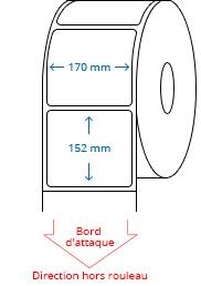 170 mm x 152 mm Étiquettes à rouleaux