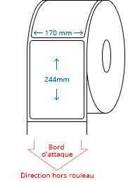 170 mm x 244 mm Étiquettes à rouleaux