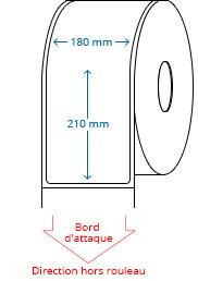 180 mm x 210 mm Étiquettes à rouleaux