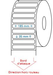 185 mm x 35 mm Étiquettes à rouleaux
